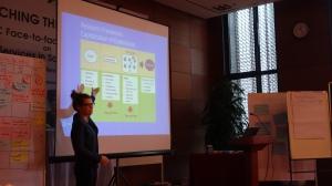 Stefanie presenting her findings