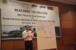 Felix Fellmann (SDC) presented the objectives of the workshop