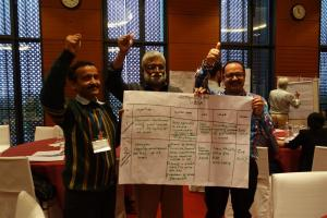 The Indian team with their action plan